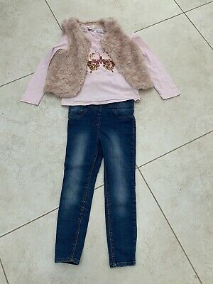 Beautiful Girls Jeans Outfit. Age 6-8. H& M.