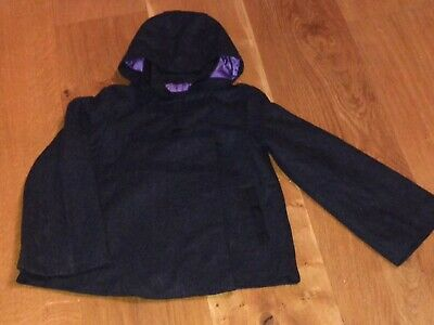 Beautiful John Lewis lined winter coat for girl aged 9. VGC. 44% wool.