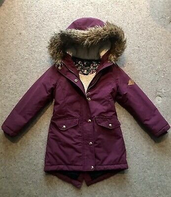Girls Joules Winter Padded Coat Age 6