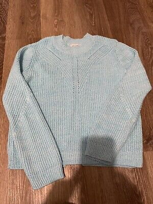 Girls River Island Teal Jumper Age 11-12 With Back Zip Detail
