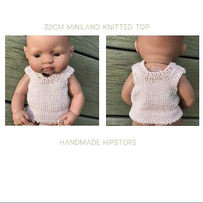 Miniland Doll Clothes top jumper sweater (handmade in syd) knit 32cm doll