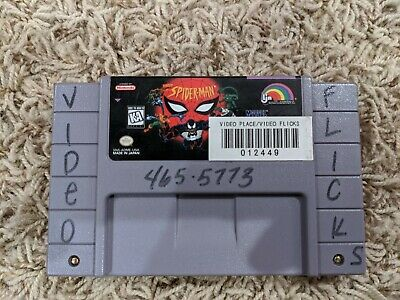 SPIDER-MAN 1995 Super Nintendo SNES PINS CLEAN TESTED Authentic