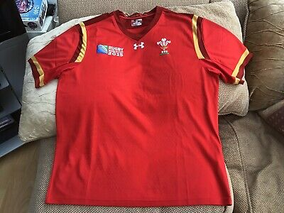Under Armour Wales Rugby Union World Cup 2015 Home Shirt 2XL Brand New No Tags