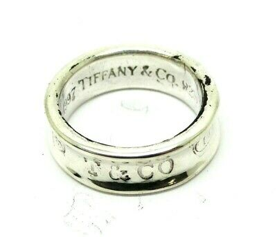 TIFFANY & CO Classic CONCAVE 1837 1997 925 Sterling Silver Ring Band 5-3/4 T&Co