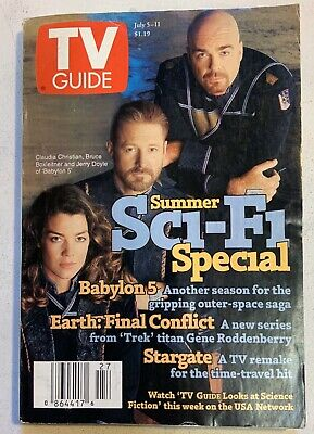 Babylon 5 Summer Sci-fi Special Volume 45 No 27 Issue #2310 TV Guide