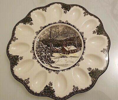 Johnson Brothers The Friendly Village Deviled Egg Plate Tray Platter