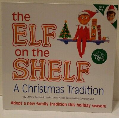 2012 3rd Edition Elf On The Shelf Plush Book Christmas Boy Brown Hair Blue Eyes