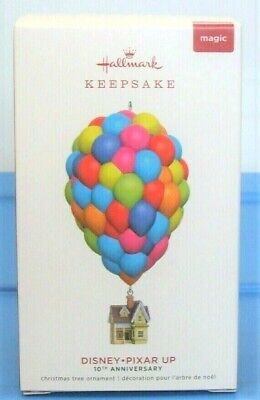 2019 Hallmark Disney Pixar Up Christmas Ornament 10th Anniversary House Balloons