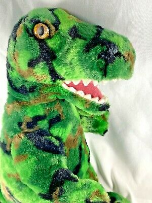Build a Bear TREX Camo Green Dinosaur Plush Stuffed Animal Camouflage - BABW