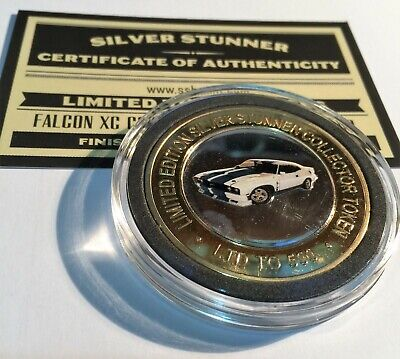 Ford Falcon XC Cobra Colour Silver Stunner Coin/Token C.O.A. LTD 500 Blemished