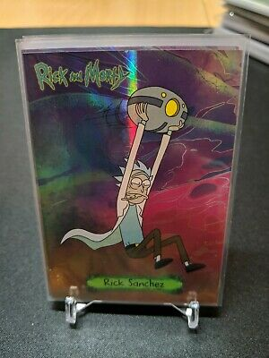 2019 NYCC Exclusive Rick And Morty Metallic 4 Card Pack Cryptozoic Limited 250