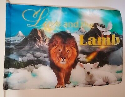 Lion & the Lamb 100% Silk praise and worship dance flag w/ Free Shipping