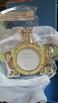 NWOT Silver Plated Photo Frame by Childhood Memories Boxed Elephants Giraffe
