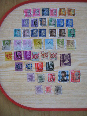 Small collection of Hong Kong stamps : 42 Used QEII and 3 George VI