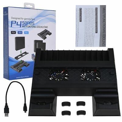 New For PS4/Pro/Slim Vertical Stand Cooling Fan Controller Charging Dock Station