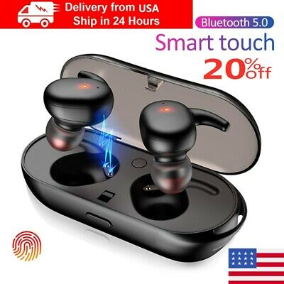 USA Bluetooth 5.0 Earbuds Wireless Headphones Earphones For iphone Android TWS4*