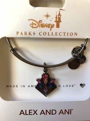 Disney Parks 2019 Halloween Evil Queen Silver Bangle Bracelet by Alex and Ani