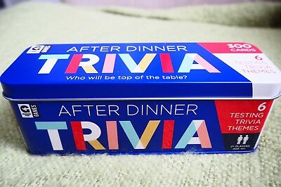 BN After Dinner Trivia Game Party Quiz Family Cards