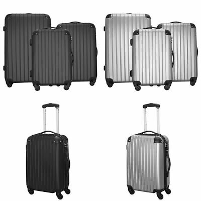 "20"" 24"" 28"" Set of 3 Luggage Set Travel Bag ABS Trolley Spinner Suitcase w/Lock"