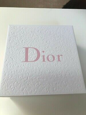 Dior Beauty Textured Design Box, 21 Cm Square White & Pink New