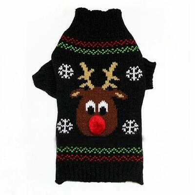 Christmas Winter Xmas Dog Puppy Jumper Sweater Rudolph Size L LARGE *UK SELLER*
