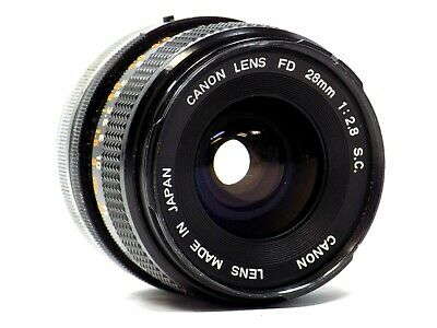 Canon FD 28mm 1:2.8 S.C. SC Lens Made In Japan