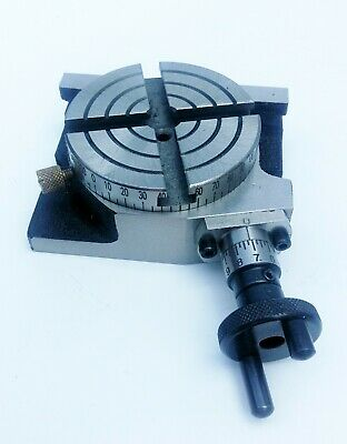 """Amadeal 80mm(3"""") 4 Slots Regular Rotary Table"""