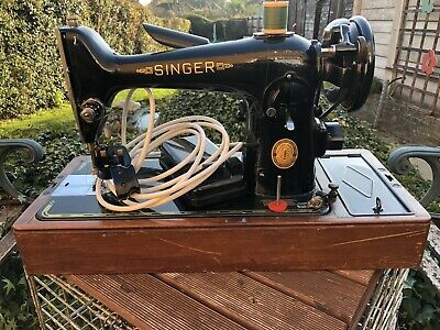 Singer Electric sewing machine Model 201k From 1952 This Will Sew Leather.