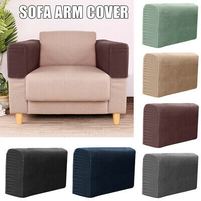 1 Pair Arm Rest Covers Furniture Sofa Couch Chair Protectors Extractable