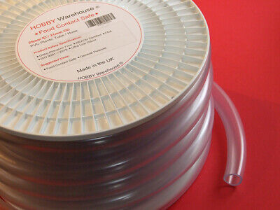 25mm ID PVC Plastic Tube Hose Food Contact Safe Flexible Clear Pipe-All Lengths