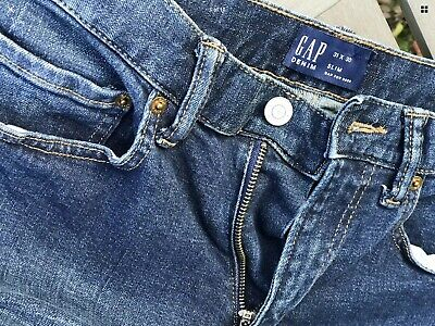 Gap Denim Slim - Mid Rise - Dark Blue - Dark Tint Jeans With Tags - Not Attached