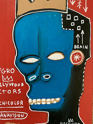 Jean Michel Basquiat Original Oil Painting