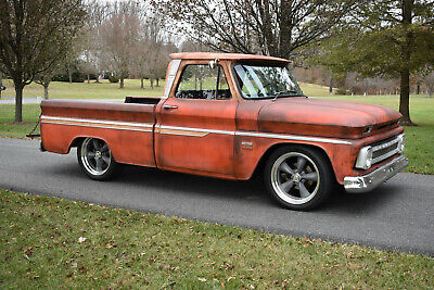 "1965 Chevrolet C-10 PICKUP, BIG BLOCK 1965 Chevrolet 'Big Window' C-10 Pickup, ""Faux Patina"", NEW 454, 700R4 (video)"