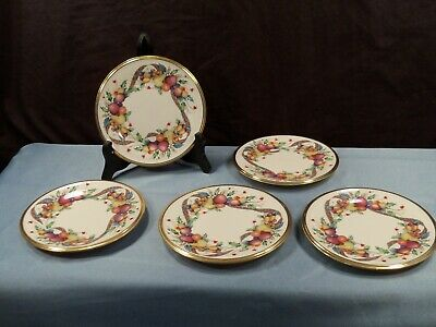Set of 5 Lenox HOLIDAY TARTAN Dimension Collection Bread & Butter Plates NWT