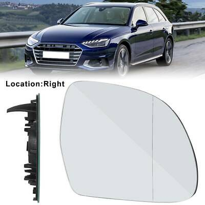 Right driver side wing mirror glass for audi A8 1999-2002 chauffé bleu