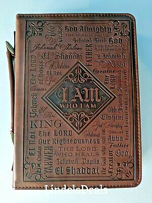 "Bible Cover Large  7"" x 10 1/8"" x 1 7/8""  Names of God Bible Cover"