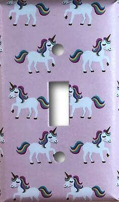 Pink Unicorn Design Decorative Single Toggle Light Switch Cover Wall Plate