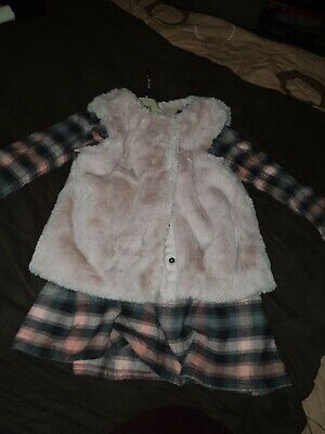 Girls Next Dress And Gilet Outfit Age 4 - 5