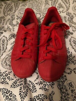 Bright Red Equality adidas Trainners Size Uk 6 Unisex