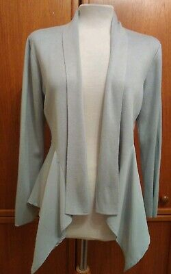 Marks And Spencer Per Una Waterfall Cardigan Size 12 Grey Never Worn
