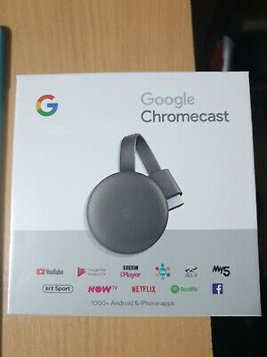 Google Chromecast 3rd Gneration Media Streamer - Black .Brand new .
