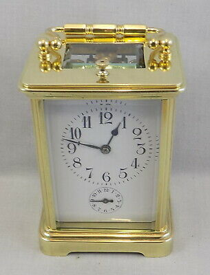 Antique French Striking Repeating Carriage Clock With Alarm - Cleaned & Serviced