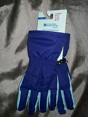 Mountain Warehouse Kids Waterproof Snow  Ski Gloves NEW Large rrp £19.99 gift