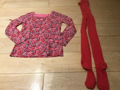Girls Next Long Sleeve Top & Red Tights! Age 10-12years