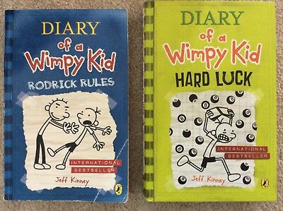 Diary of a Wimpy Kid Books - Rodrick Rules and Hard Luck by Jeff Kinney