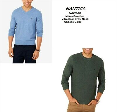 Nautica Men's Navtech Crew or V-Neck Sweater Pick Color & Size New With Tags *f