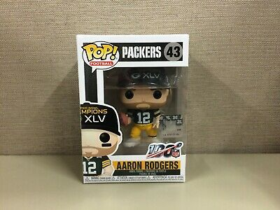 Funko POP Football: NFL - Aaron Rodgers Green Bay Packers Super Bowl XLV #43 NIB