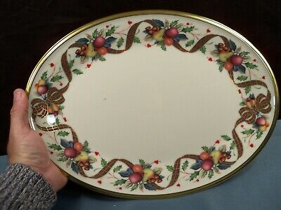 """Lenox HOLIDAY TARTAN Dimension Collection Oval Platter 13 3/4"""" Long NWT #2"""