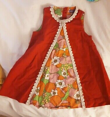 Little Bird By Jools Oliver Bold Floral Dress Retro 60s 9-12 months