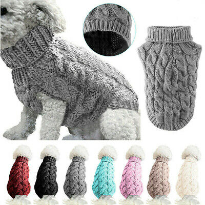 Small Dog Knitted Jacket Sweater Pet Puppy Cat Coat Clothes Warm Costume Apparel